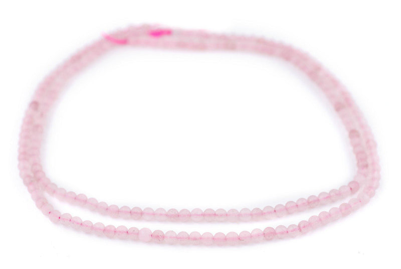 Matte Round Rose Quartz Beads (4mm)