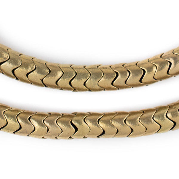 Brass Snake Beads (9mm)