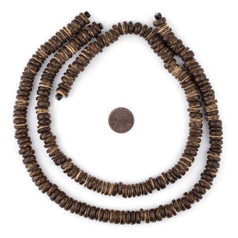 Image of Chocolate Disk Coconut Shell Beads (10mm) - The Bead Chest