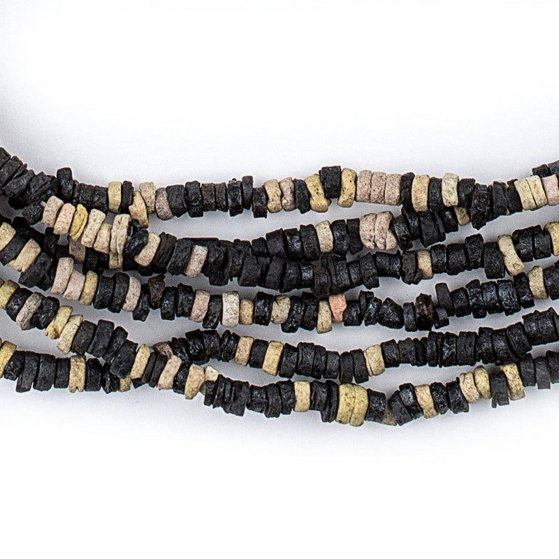 Black & White Pharaonic Pottery Beads - The Bead Chest
