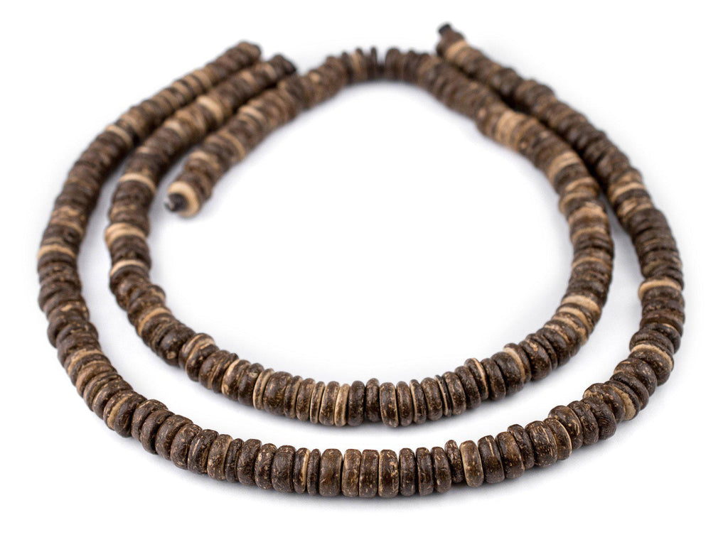 Chocolate Disk Coconut Shell Beads (10mm) - The Bead Chest