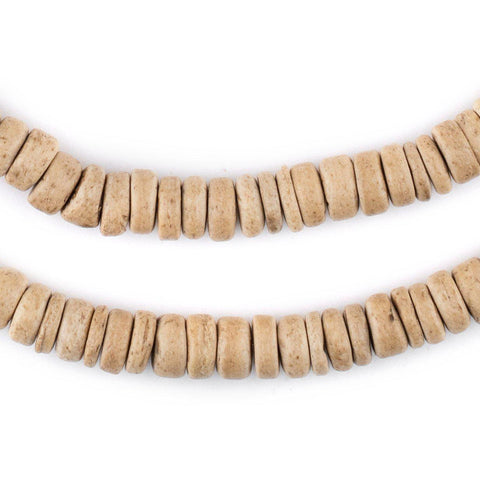 Cream Disk Coconut Shell Beads (8mm) - The Bead Chest