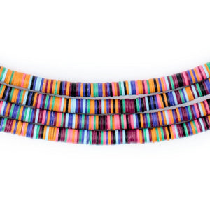 Vibrant Medley Vinyl Phono Record Beads (4mm) - The Bead Chest