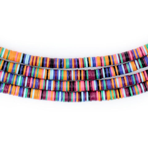 Image of Vibrant Medley Vinyl Phono Record Beads (4mm) - The Bead Chest