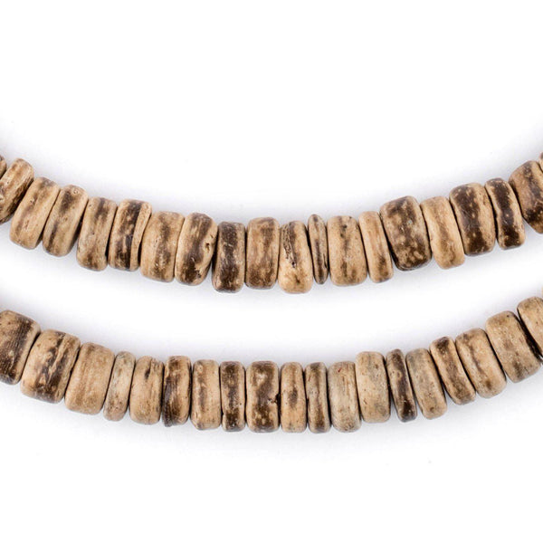 Rustic Disk Coconut Shell Beads (8mm) - The Bead Chest