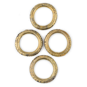 African Brass Money Ring Beads (Set of 4) - The Bead Chest