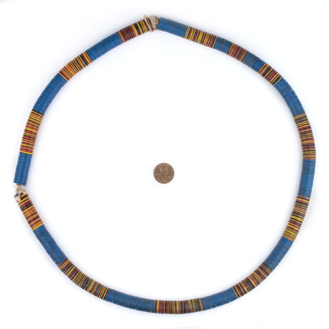 Multicolor Vintage Vinyl Phono Record Beads (12mm) - The Bead Chest