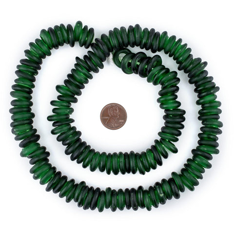 Image of Green Annular Wound Dogon Beads