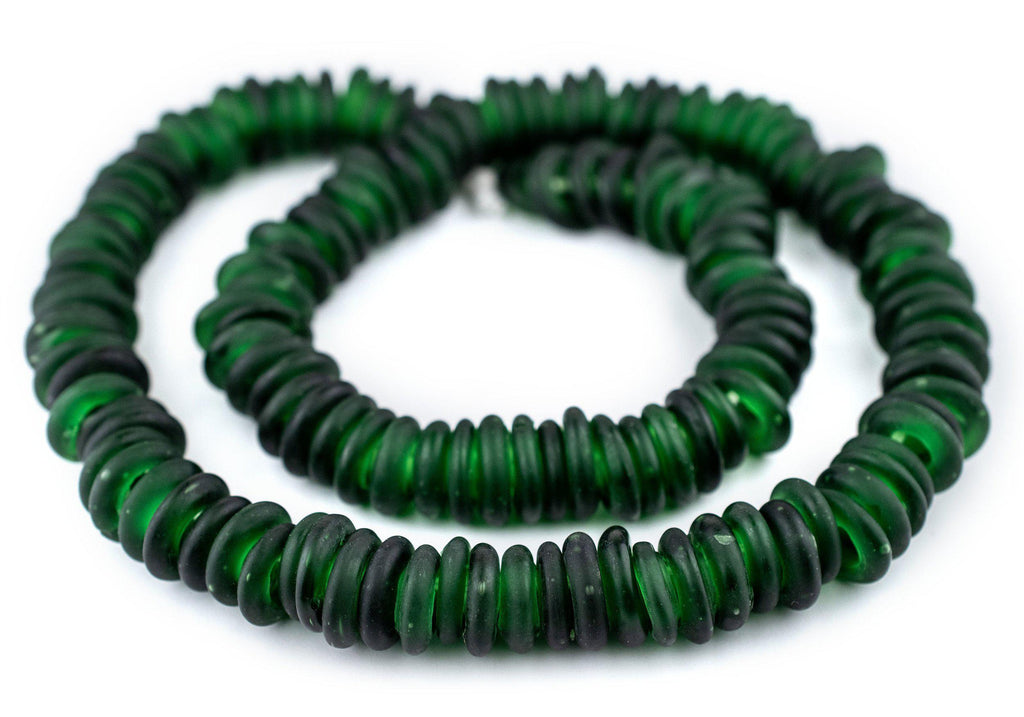 Green Annular Wound Dogon Beads