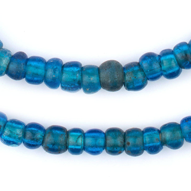 Old Translucent Brilliant Blue Padre Beads - The Bead Chest
