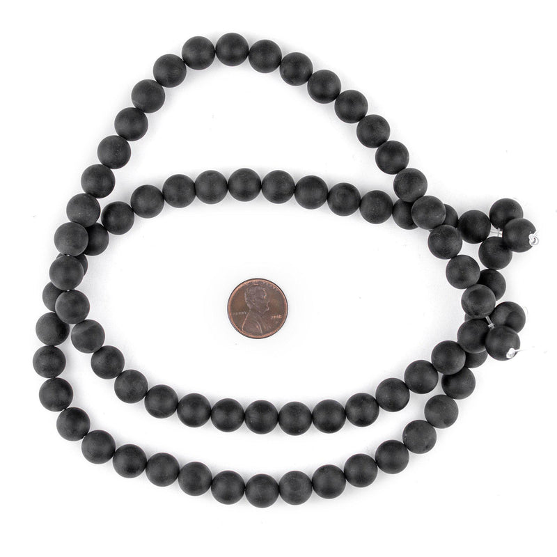 Matte Round Black Onyx Beads (10mm) - The Bead Chest