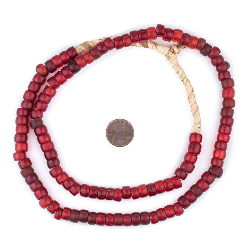 Old Translucent Red Padre Beads - The Bead Chest