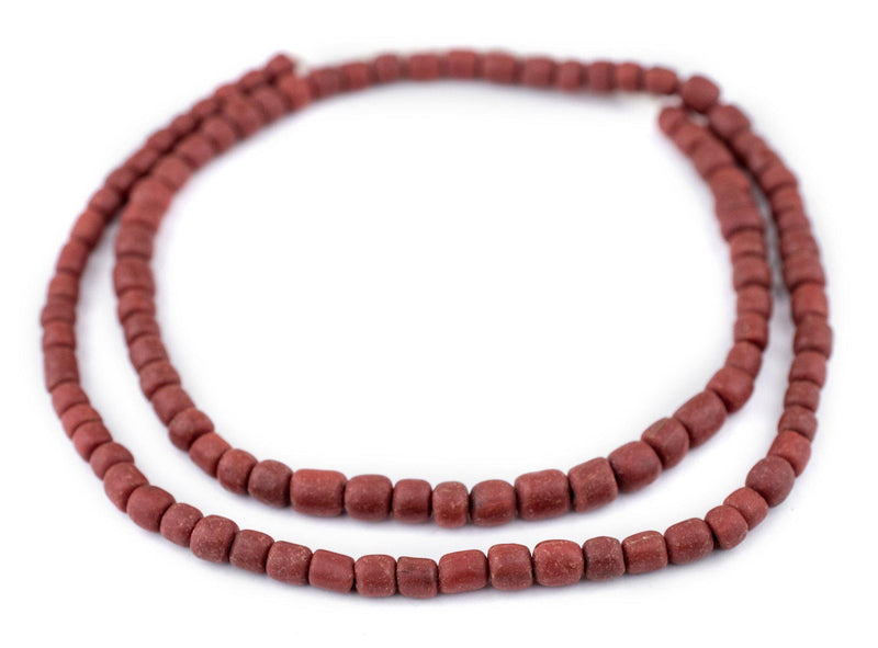 Red Java Glass Beads (6-8mm) - The Bead Chest