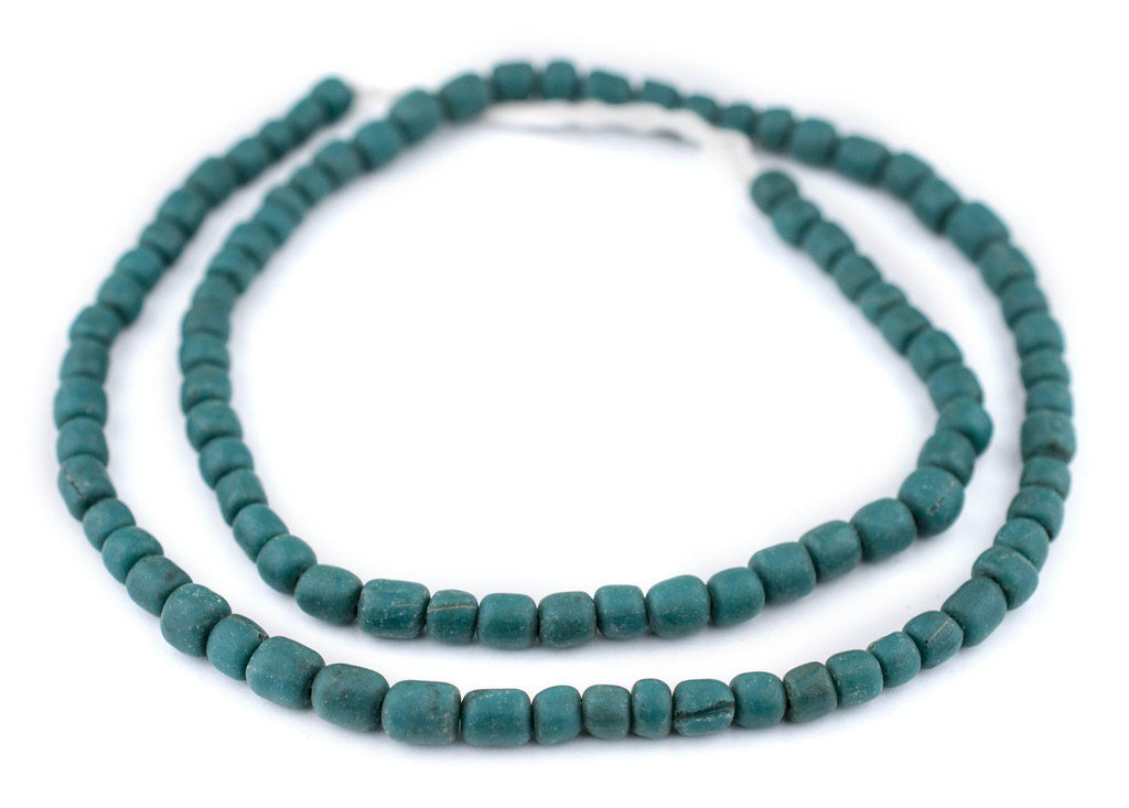 Teal Java Glass Beads (6-8mm) - The Bead Chest
