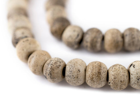 Image of Round Grey Himalayan Bone Mala Beads (8mm) - The Bead Chest