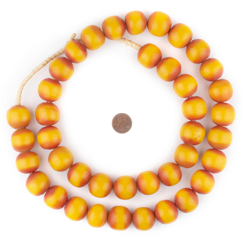 Round Kenya Amber Resin Beads (22mm)