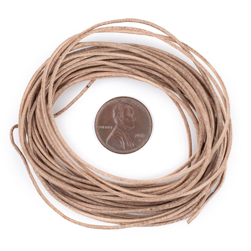 1.0mm Natural Round Leather Cord (15ft)