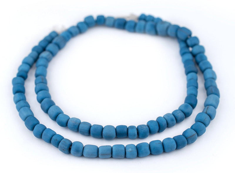 Blue Java Glass Beads (6-8mm) - The Bead Chest
