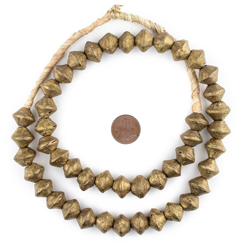 Ghana Brass Saucer Beads (13x14mm) - The Bead Chest