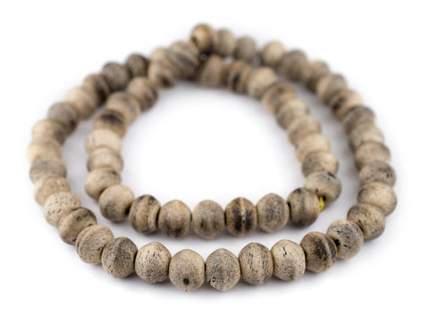 Image of Round Grey Himalayan Bone Beads (14mm) - The Bead Chest