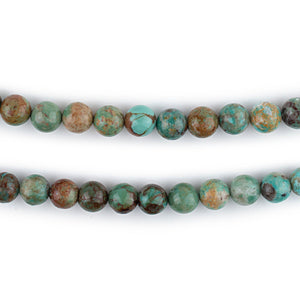 Green Round Turquoise Beads (6mm)