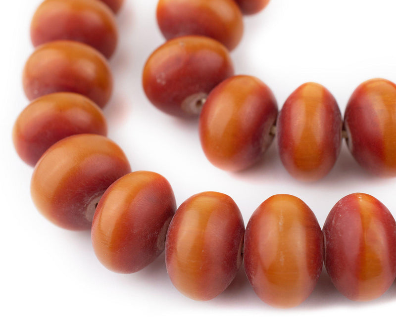 Auburn Kenya Amber Resin Saucer Beads (25mm)