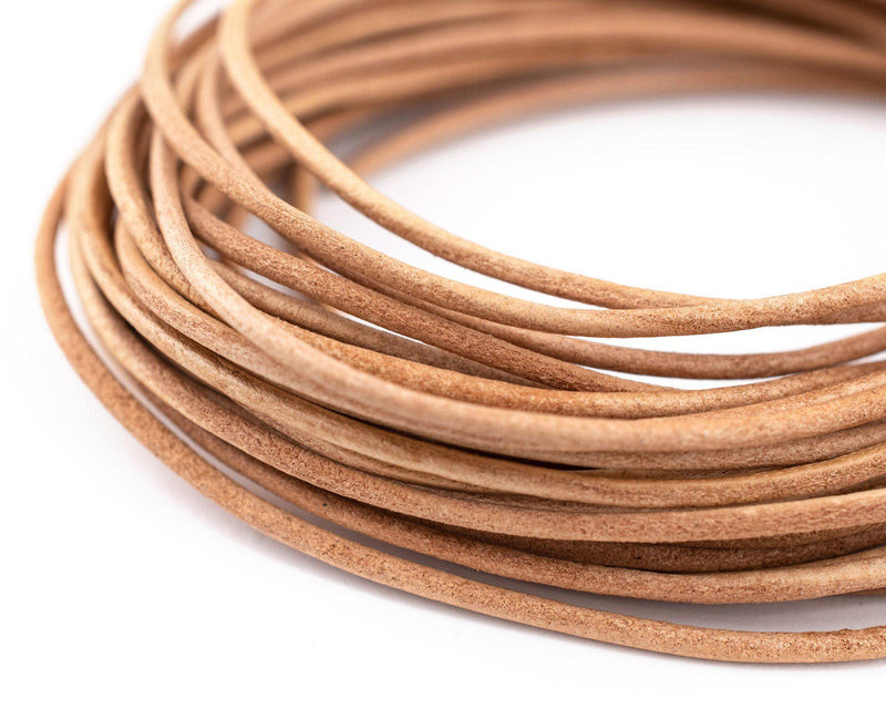 1.5mm Natural Round Leather Cord (15ft)