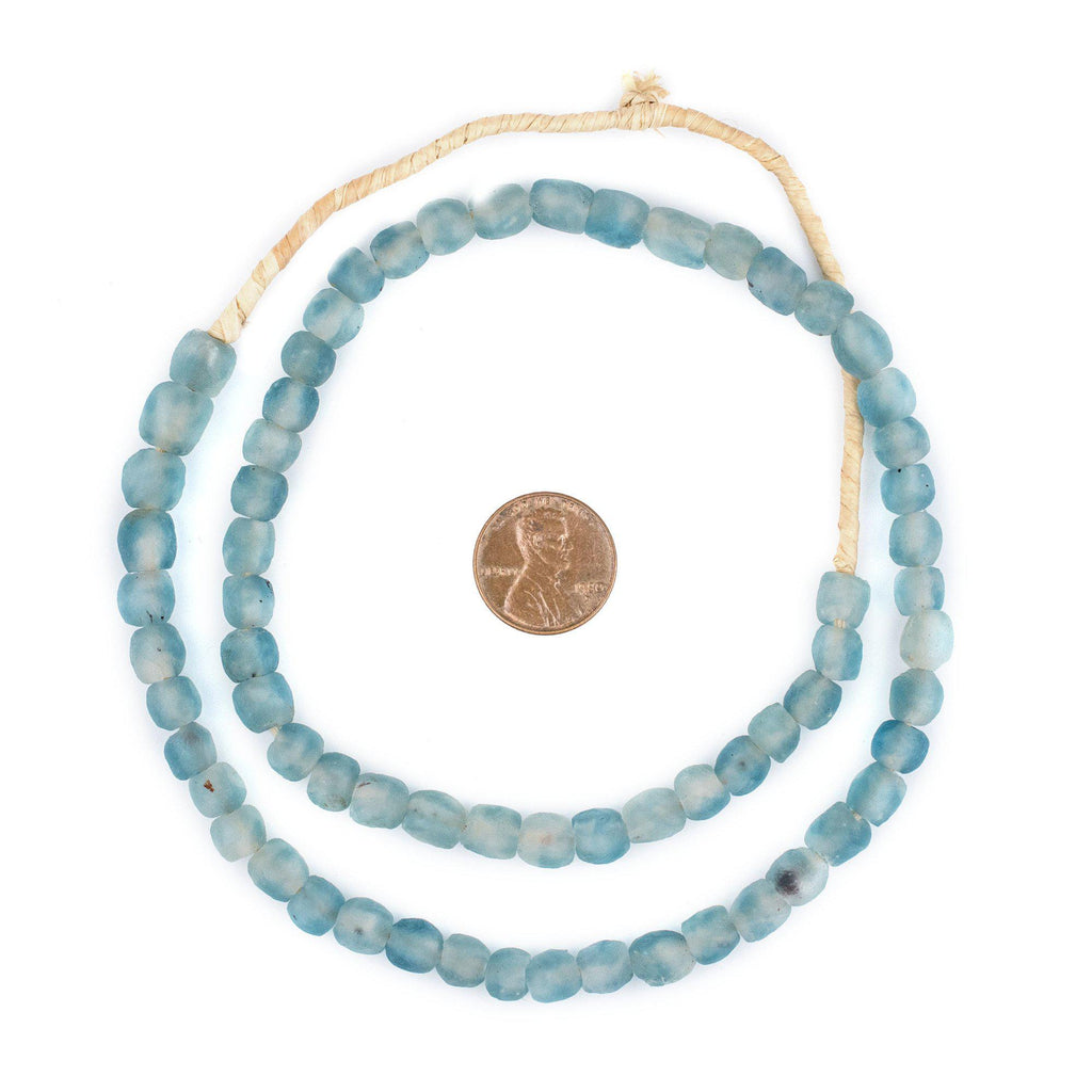Blue Wave Marine Recycled Glass Beads (7mm) - The Bead Chest