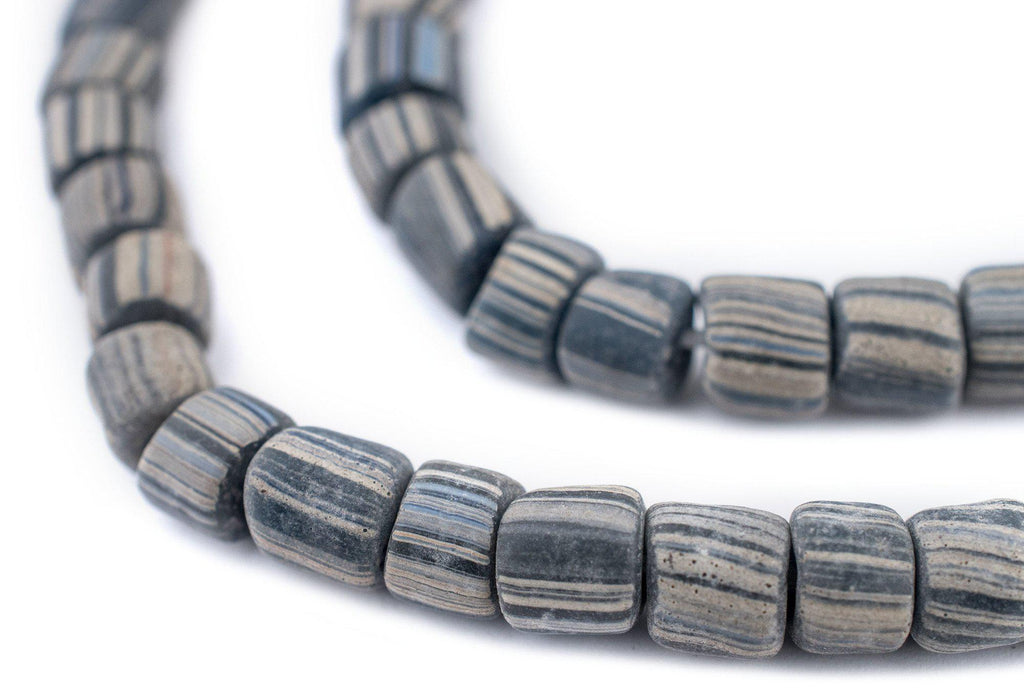 Ancient-Style Grey Java Gooseberry Beads (6-8mm) - The Bead Chest