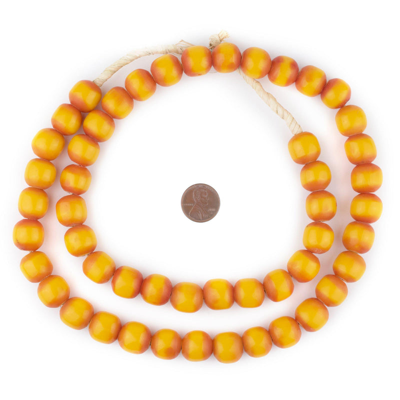 Round Kenya Amber Resin Beads (16mm)