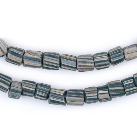 Image of Ancient-Style Teal Java Gooseberry Beads (6-8mm) - The Bead Chest