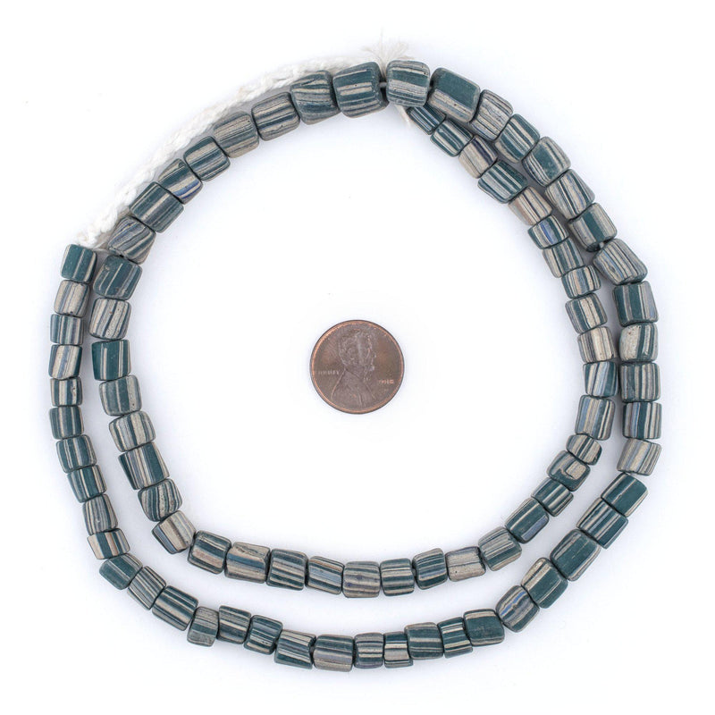 Ancient-Style Teal Java Gooseberry Beads (6-8mm) - The Bead Chest