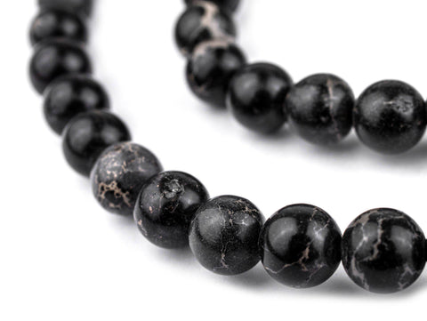 Black Sea Sediment Jasper Beads (8mm) - The Bead Chest