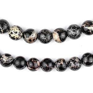 Black Sea Sediment Jasper Beads (10mm) - The Bead Chest