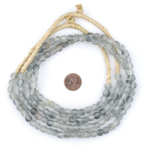 Grey Mist Recycled Glass Beads (7mm) - The Bead Chest
