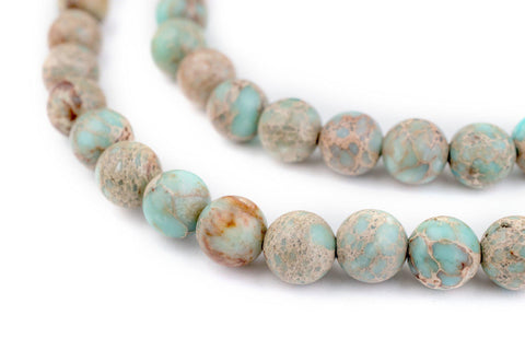 Turquoise Sea Sediment Jasper Beads (8mm) - The Bead Chest