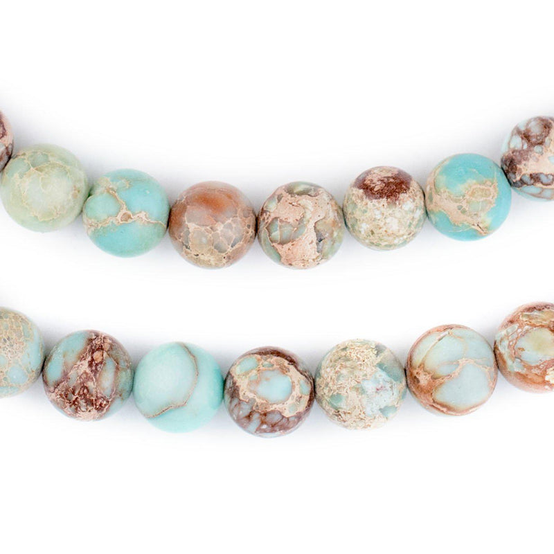 Turquoise Sea Sediment Jasper Beads (10mm) - The Bead Chest