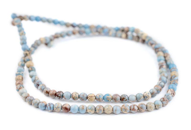 Carolina Blue Sea Sediment Jasper Beads (6mm) - The Bead Chest