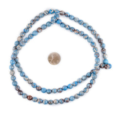 Carolina Blue Sea Sediment Jasper Beads (8mm)