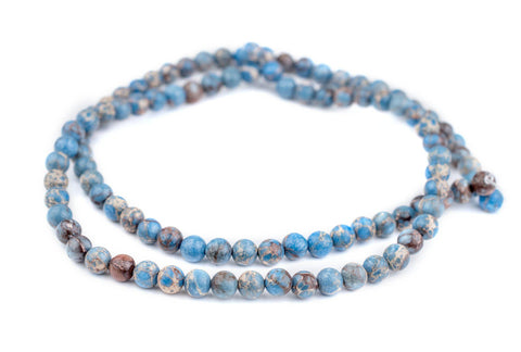 Carolina Blue Sea Sediment Jasper Beads (8mm) - The Bead Chest