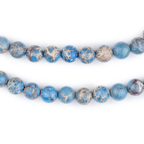 Image of Carolina Blue Sea Sediment Jasper Beads (8mm) - The Bead Chest