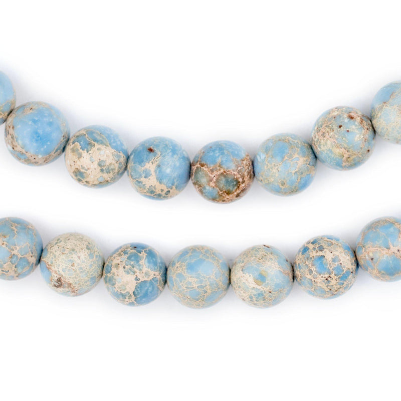 Carolina Blue Sea Sediment Jasper Beads (10mm) - The Bead Chest
