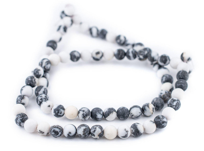 Round Matte Zebra Jasper Beads (10mm) - The Bead Chest