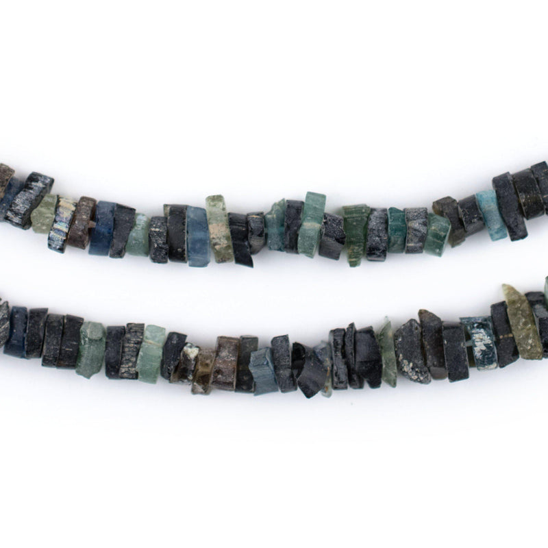 Dark Roman Glass Heishi Beads (5mm) - The Bead Chest