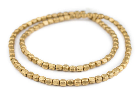 Brass Rounded Rectangle Beads (6x5mm) - The Bead Chest