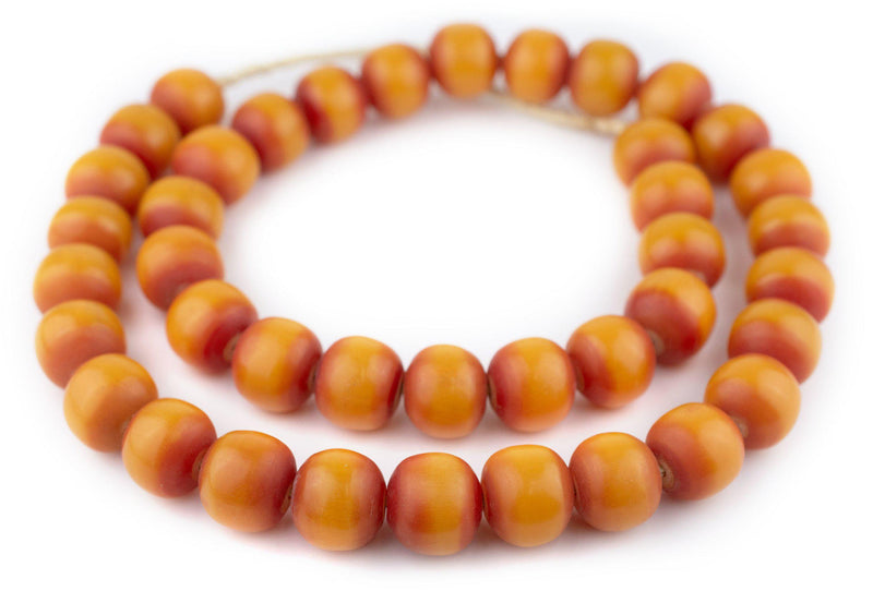 Tangerine Kenya Amber Resin Beads (22mm)
