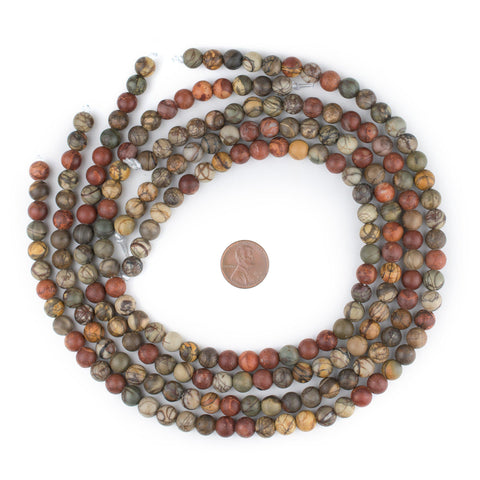 Image of Round Creek Jasper Beads (Large Hole) (8mm) - The Bead Chest