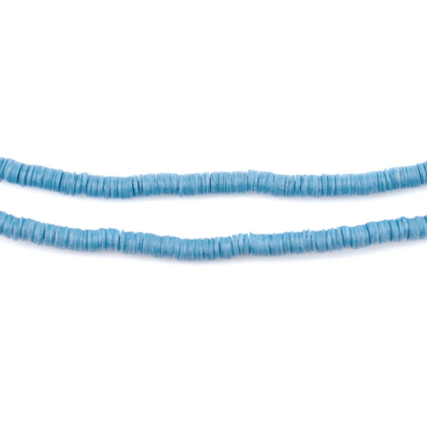 Sapphire Blue Vinyl Phono Record Beads (3mm)