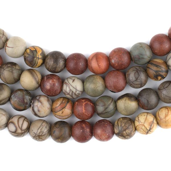 Round Creek Jasper Beads (Large Hole) (8mm) - The Bead Chest