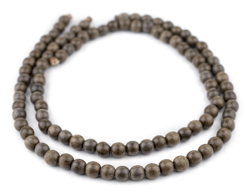Round Natural Graywood Beads (8mm) - The Bead Chest
